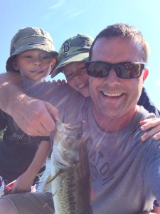 Jim Cooley with his sons on a recent fishing trip