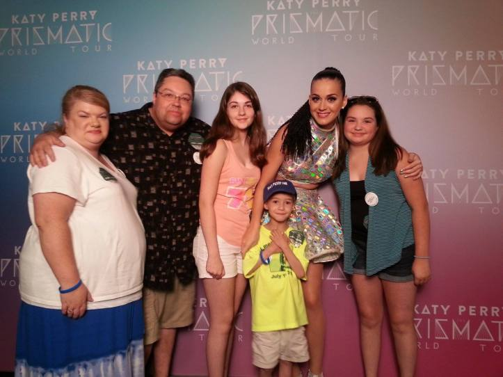 Anthony, his family and singer Katy Perry