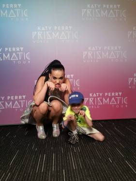 Massena resident and 'wish kid' Anthony Guimond with Katy Perry