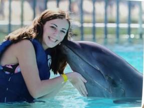 Adrianna with dolphin