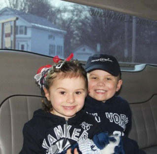 In the limo on Wish Day
