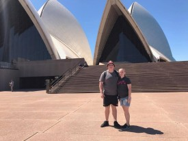 the happy couple in australia