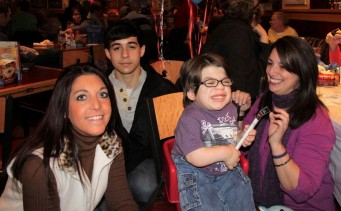 Wish Kid Nikki (left) becomes wish sponso for Wish Kid Zachie